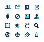 Communication Interface Icons // Azure Series - stock illustration