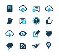 Social Sharing and Communications // Azure Series Stock Illustration