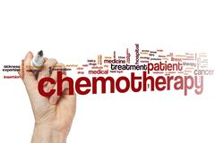 Chemotherapy word cloud - stock photo