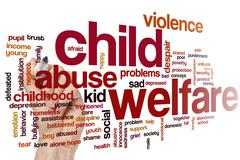 Child welfare word cloud - stock photo