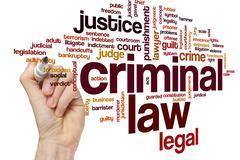Criminal law word cloud Stock Photos