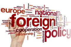 Foreign policy word cloud Stock Photos
