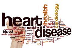 Heart disease word cloud - stock photo