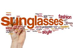 Sunglasses word cloud - stock photo
