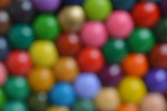 blurred background of colored pencils - stock photo