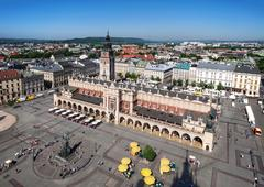 Main Market Square in Cracow, Poland Stock Photos