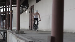 Extreme Sport bmx bicycle trick 360 - stock footage