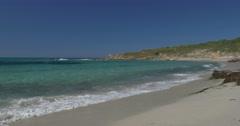 4K, Beautiful Beach at Lumio, Corsica Stock Footage