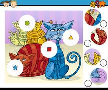 Educational preschool game cartoon Stock Illustration