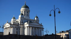 Helsinki cathedral in the sunshine Stock Footage