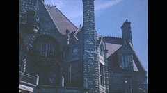 Vintage 16mm film, Victoria 1962, craigdarroch castle Stock Footage