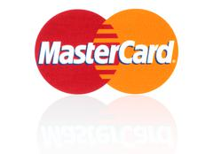 Mastercard logo on white background - stock photo