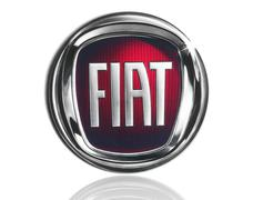 Fiat logo on white background - stock photo