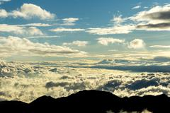 Cloudscape At Sunset At High Altitude In Andes Mountains Circa 5000M - stock photo
