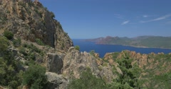 4K, Galeria Viewpoint, Corsica Stock Footage