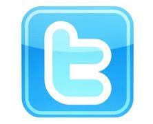 Twitter logotype printed on paper Stock Photos