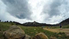 Boulder, Colorado Flatirons Timelapse Stock Footage