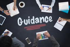 Stock Illustration of Guidance against blackboard