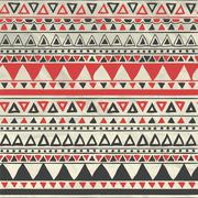 Vector Aztec Tribal Seamless Pattern on Crumpled Paper Stock Illustration