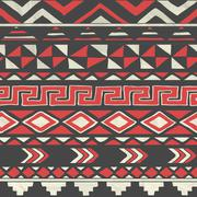 Stock Illustration of Vector Aztec Tribal Seamless Pattern on Crumpled Paper
