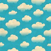 Clouds in the sky. Seamless pattern Stock Illustration