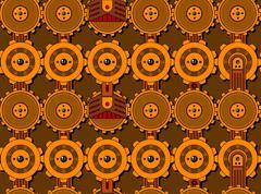 Seamless cogwheel pattern Stock Illustration