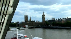Cityscape from London Eye with houses of Parliament. London. Stock Footage