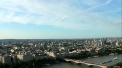 Cityscape from London Eye. England - time lapse and reflection in glass Stock Footage