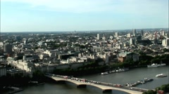 Cityscape from London Eye. England Stock Footage