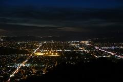 Simi Valley California Night Aerial Stock Photos