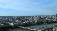 Cityscape from London Eye. England with refcection o glass Stock Footage