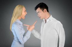 Stock Photo of Couple argue