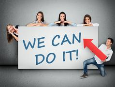 We can do it word Stock Photos