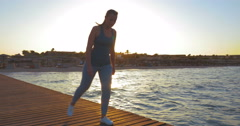 Young Woman Doing Lunge Exercise Stock Footage