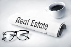 Real Estate word - stock photo