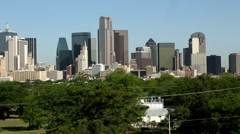 Pan of Dallas Texas Skyline - stock footage