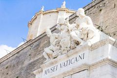 Entrance to the Vatican museum, Rome, Italy - stock photo