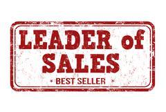 Leader of sales stamp - stock illustration