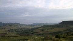 Time lapse, Crimean mountains near city Koktebel Stock Footage