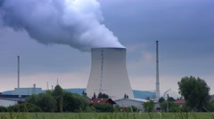 Time-lapse footage of a Nuclear power plant Stock Footage