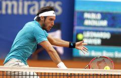 Argentinian tennis player Leonardo Mayer Stock Photos
