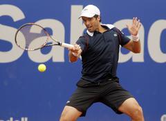 Spanish tennis player Pablo Andujar Stock Photos