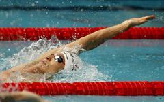 Japanese swimmer Ryosuke Irie - stock photo