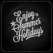 Stock Illustration of summer holiday chalk vintage lettering background