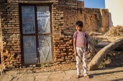 Boy in street Stock Photos