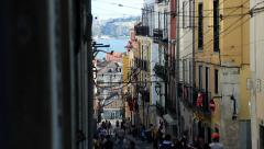 Street in Lisbon (Bairro Alto) Stock Footage