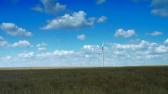 Concept Of Using Natural Resources Intelligently.Wind Energy Turbines,Wind Power Stock Footage