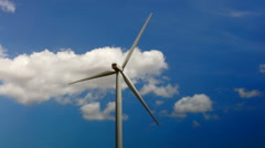 Concept Of Using Natural Resources Intelligently.Wind energy turbines,Wind Power - stock footage
