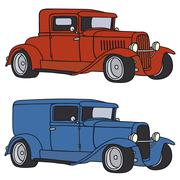 Hot rods Stock Illustration