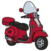 Red scooter Piirros
